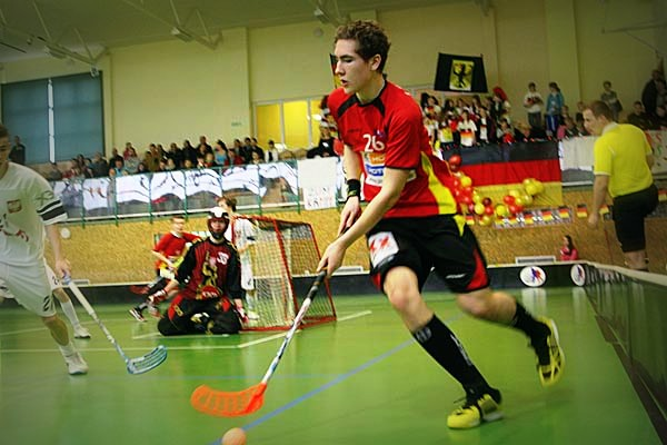 Polish Cup U19 Men: Germany - Poland (Zbaszyn, POL), 2.2.2013 - by unihockey-pics.de / unihockey-pics.ch